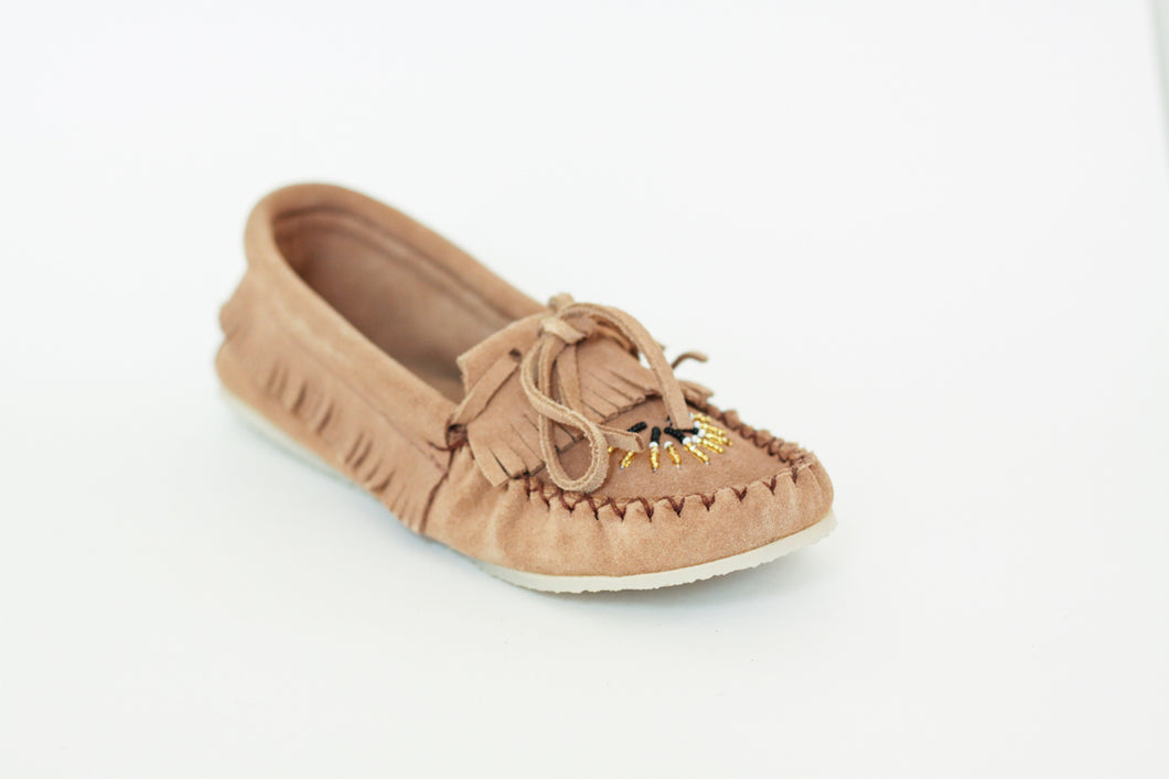 Women's Laurentian Chief Suede Moccasins with Rubber Crepe Sole