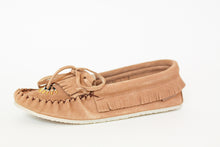 Load image into Gallery viewer, Women's Laurentian Chief Suede Moccasins with Rubber Crepe Sole