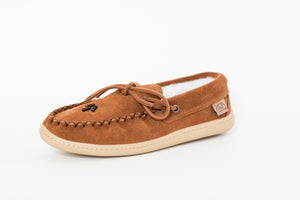 Women's Laurentian Chief Driving Moccasins with Rubber Sole & Poly-Fleece
