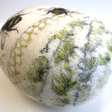Load image into Gallery viewer, Felt pebble pin cushion - bumble bee