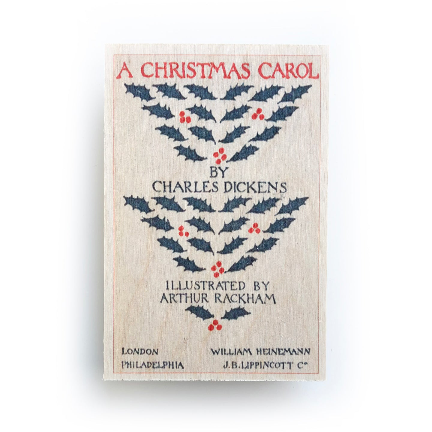 Wooden postcard - Christmas carol