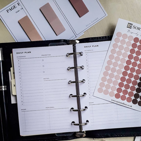 Printable Daily Planner No. 9 in Pocket size