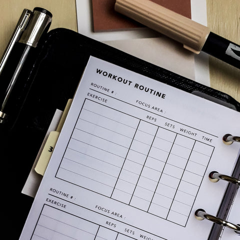 Printable Workout Routine Planner and Tracker