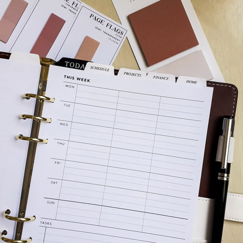 Printable Weekly Planner No. 1 in A5 size