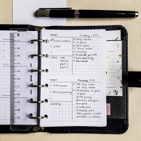 Daily Planner No. 7 in Pocket Size