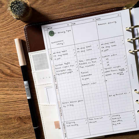 Weekly Planner No. 5 Grid in A5