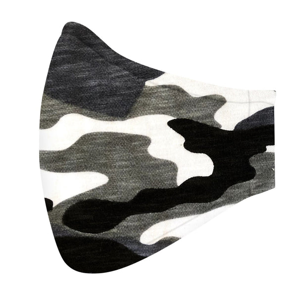 Black & Gray Camo Jersey Mask