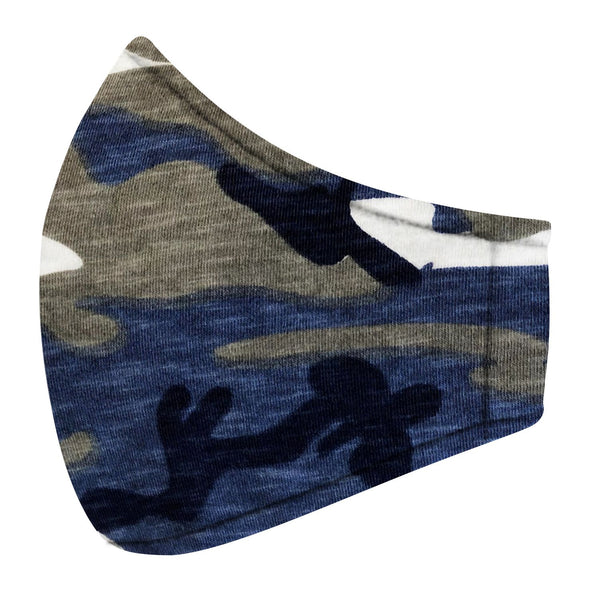 Blue & Gray Camo Jersey Mask