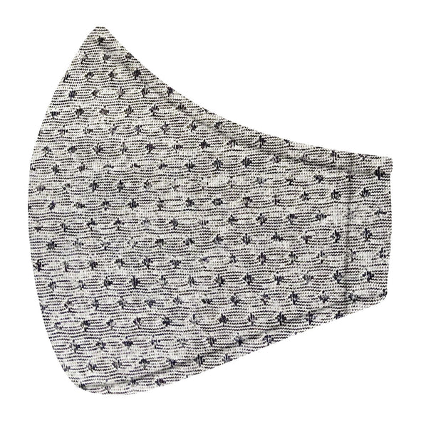 Gray & Blue Argyle Jersey Mask