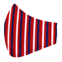 Red, Pink & Blue Stripe Jersey Mask