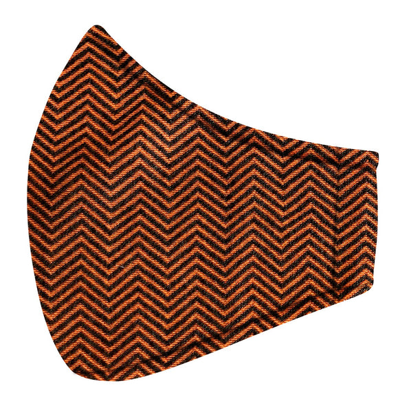 Black & Orange Zig Zag Jersey Mask