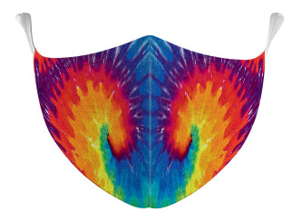Rainbow Tie Dyed Mask