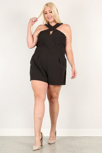 Plus Size Black Romper