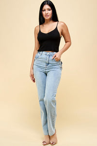 Carissa High-Fashion Denim Pants