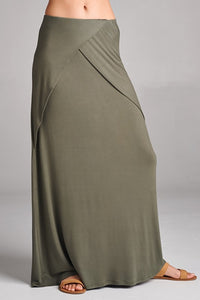 Layered Front Detail Maxi Skirt (Plus Size)