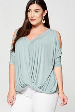 Load image into Gallery viewer, Open Shoulder Fashion Top (Plus Size)