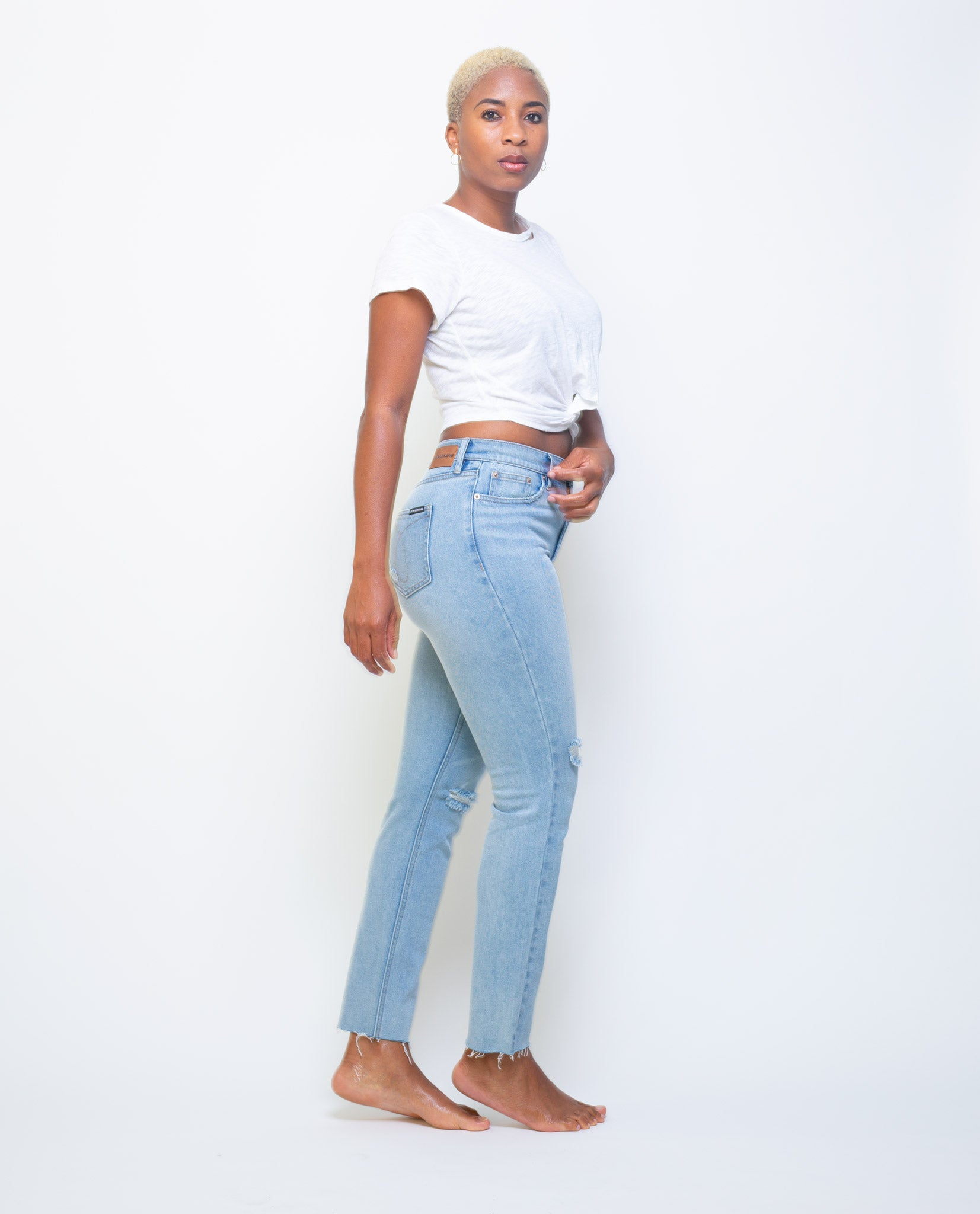 Calvin Klein High Rise Jeans - Stylish Slim Fit For Women