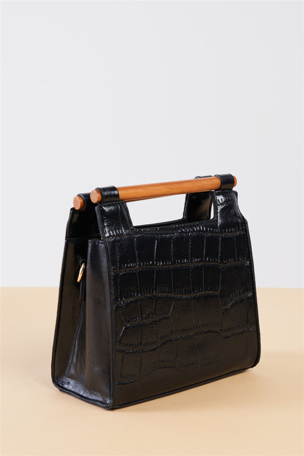 Black Leather Mini Handbag - Stylish Summer Handbag
