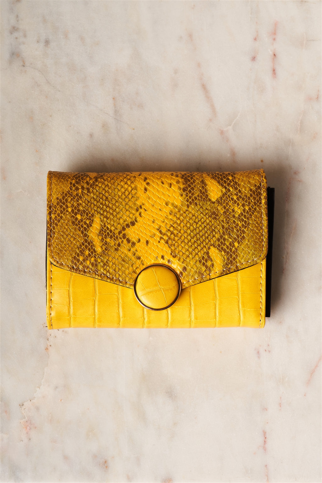 Yellow Snake Python Three Way Wallet - Zenassidy