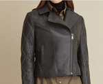 Load image into Gallery viewer, Studded Sleeve Genuine Leather Jacket