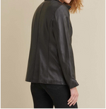 Load image into Gallery viewer, Three-Button Genuine Leather Blazer with Thinsulate Insulation