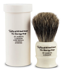 Pure Badger Shaving Brush in Black Travel Case