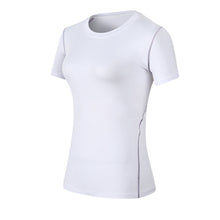 Load image into Gallery viewer, Womens Compression Workout Shirt Athletic T-Shirts Yoga Running Top