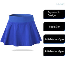 Carregar imagem no visualizador da galeria, Women Yoga Skirt with Shorts Underneath Athletic Stretchy Tennis Skort
