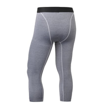 Load image into Gallery viewer, Mens 3/4 Compression Leggings Capri Running Tights Football Pants Yoga Gym Baselayer for Workout Training