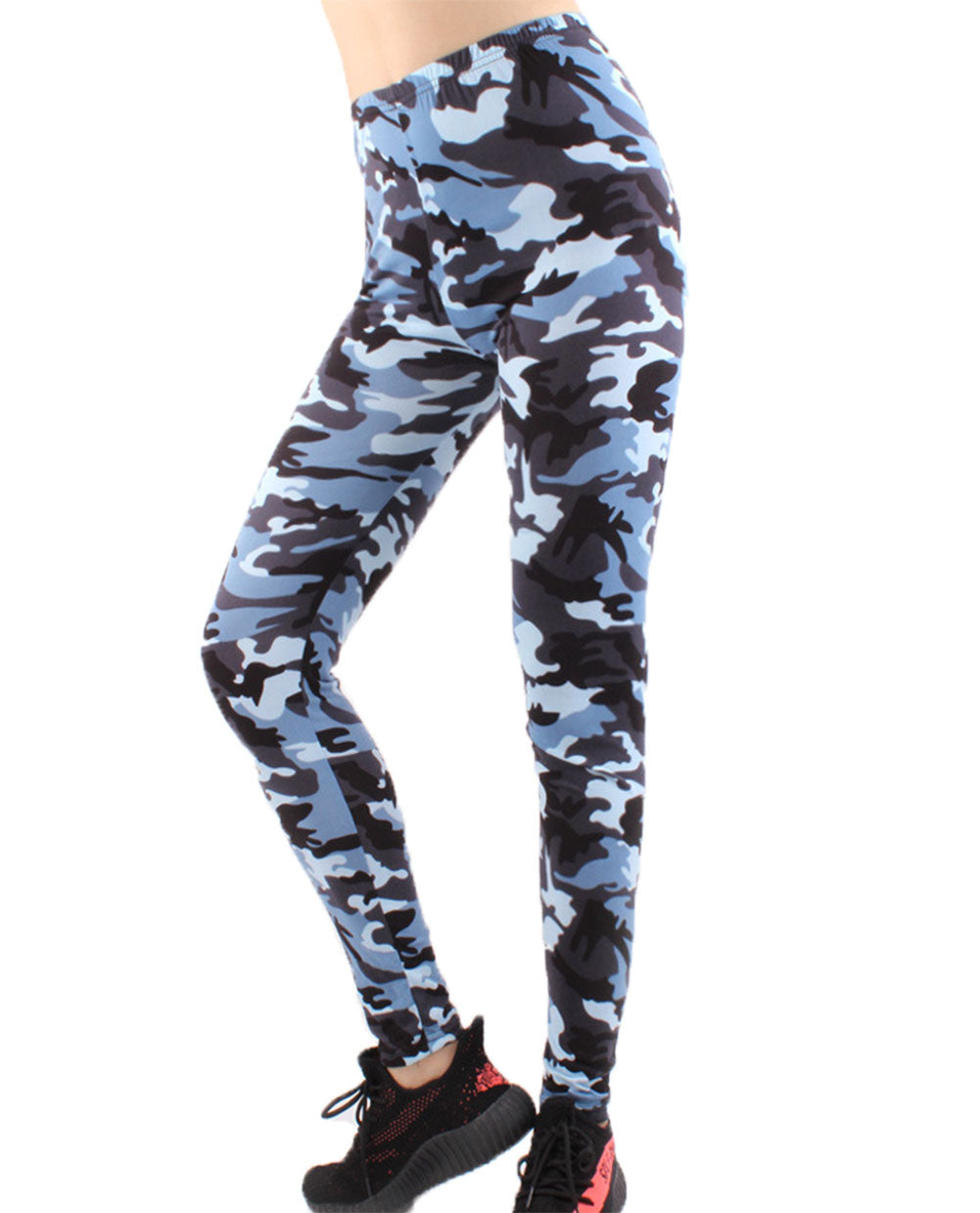 Women's Camouflage Camo Skinny Leggings Active Sports Tights Leggings