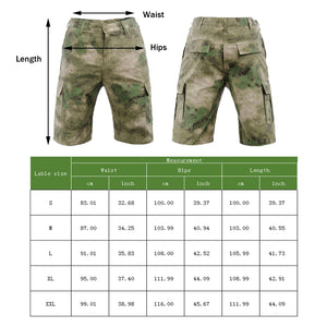 Men's Military Tactical Short Ripstop Cargo Multi-Pocket Urban Trouser