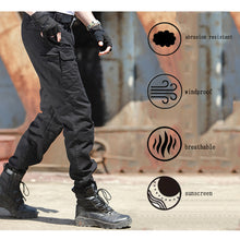 Carregar imagem no visualizador da galeria, Men's Camo BDU Tactical Cargo Gear Men Black Army Digital Pants