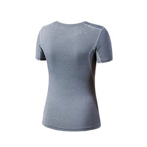 Womens Compression Workout Shirt Athletic T-Shirts Yoga Running Top