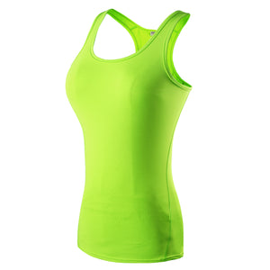 Women Racerback Athletic Tank Tops Yoga Shirts Compression Base Layer