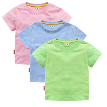 Load image into Gallery viewer, Kids 100% Cotton Casual Plain T-Shirt Comfort Soft Breathable Tee Tops