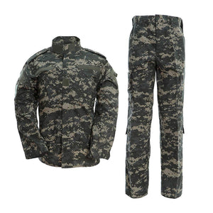 Mens Military Combat Uniform Set Shirt and Pants for Airsoft Paintball