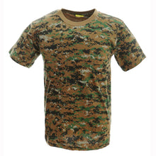 Carregar imagem no visualizador da galeria, Camo T-shirts for Mens Army Military Training Outdoor Woodland Camo Short Sleeve Tee