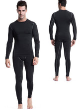 Load image into Gallery viewer, Mens Thermals Underwear Set Wicking Base Layer Crew Neck Long Johns