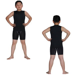 Kids Boys Girls Compression Tank Top & Shorts Sleeveless Base Layer