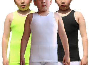 Boy's 3 Pack Compression Sleeveless Shirt Soccer Tank Top Undershirts