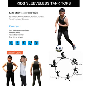 Kids Athletic Sleeveless Tank Top Boys Vest 2 Pack