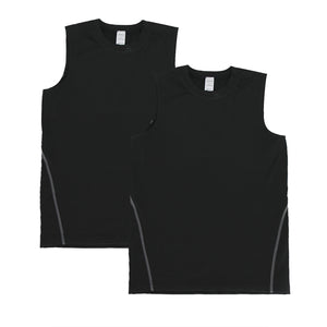 Boys Vest Tops Athletic Sleeveless Moisture Wicking Tanks 2 Pack