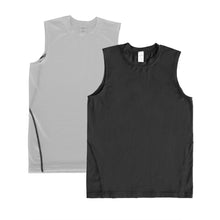 Carregar imagem no visualizador da galeria, Boys Vest Tops Athletic Sleeveless Moisture Wicking Tanks 2 Pack