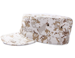 Hunting Cadet Army Basic Flat Top Cap Military Tactical Hats For Men