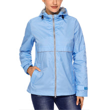 Carregar imagem no visualizador da galeria, Women Lightweight Windbreaker Jacket Quick Dry Waterproof Hooded Raincoat