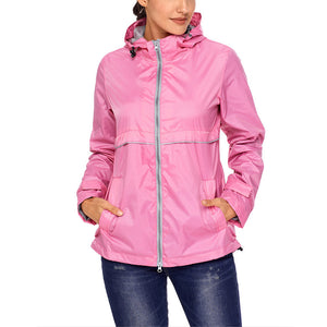 Women Lightweight Windbreaker Jacket Quick Dry Waterproof Hooded Raincoat