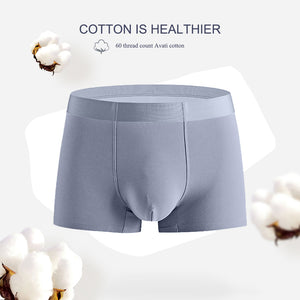 Mens No Ride Up Boxer Briefs Tagless Comfort Soft Undershorts No Fly