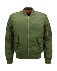 Men Flight Bomber Jacket Windbreaker Casual Baseball Heavy Coat