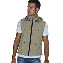 Load image into Gallery viewer, Men Photography Vest Multi-Pocket Fishing Detachable Hood Waistcoat