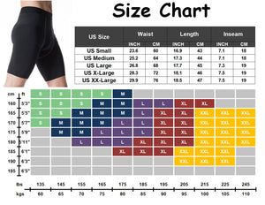Men's Compression Shorts Cool Dry Active Sports Tights Baselayer Pants